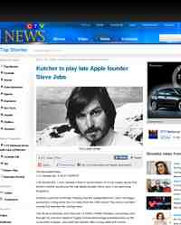 Kutcher to play late Apple founder Steve Jobs: CTV